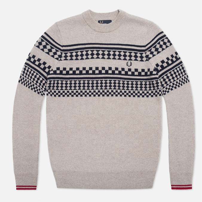 Мужской свитер Fred Perry Island Knit Moon Mist Marl