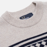 Мужской свитер Fred Perry Island Knit Moon Mist Marl фото- 1