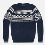 Мужской свитер Fred Perry Island Knit Navy фото- 0