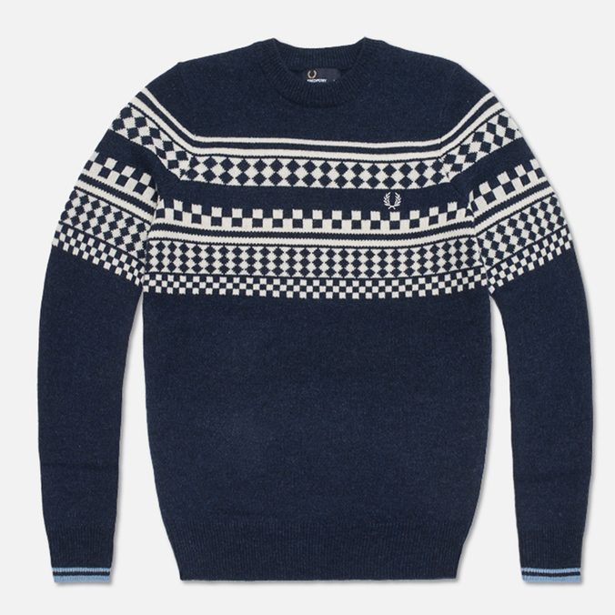 Мужской свитер Fred Perry Island Knit Navy