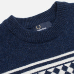 Мужской свитер Fred Perry Island Knit Navy фото- 1