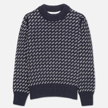 Gloverall Nordic Crew Knit Sweater Navy photo- 0