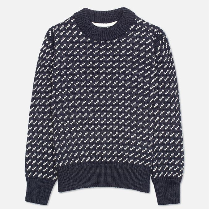 Gloverall Nordic Crew Knit Sweater Navy