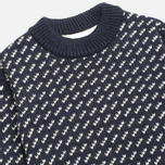 Gloverall Nordic Crew Knit Sweater Navy photo- 1