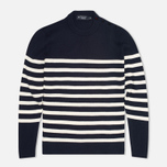 Мужской свитер Hackett Breton Stripe Crew Neck Navy/White фото- 0