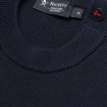 Мужской свитер Hackett Breton Stripe Crew Neck Navy/White фото- 2