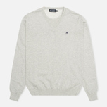 Мужской свитер Hackett Pima V Neck Logo Light Grey фото- 0