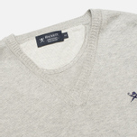 Мужской свитер Hackett Pima V Neck Logo Light Grey фото- 1