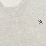 Мужской свитер Hackett Pima V Neck Logo Light Grey фото- 2