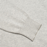 Мужской свитер Hackett Pima V Neck Logo Light Grey фото- 3