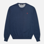 Мужской свитер Hackett Pima V Neck Logo Navy фото- 0