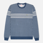 Мужской свитер Lacoste Live Herringbone Tennis Net Philippines Blue/Flour фото- 0