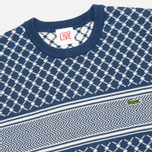 Мужской свитер Lacoste Live Herringbone Tennis Net Philippines Blue/Flour фото- 1