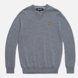 Lyle & Scott V-Neck Merino Sweater Mid Grey Marl photo- 0