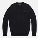 Мужской свитер Lyle & Scott V-Neck Merino True Black фото- 0