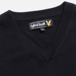 Мужской свитер Lyle & Scott V-Neck Merino True Black фото- 1