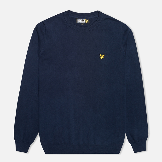 Мужской свитер Lyle & Scott Crew Neck Knit New Navy