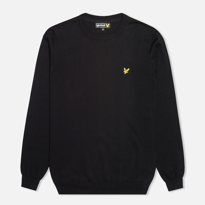 Мужской свитер Lyle & Scott Crew Neck Knit True Black