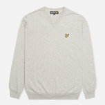 Мужской свитер Lyle & Scott V Neck Knit Light Grey Marl фото- 0