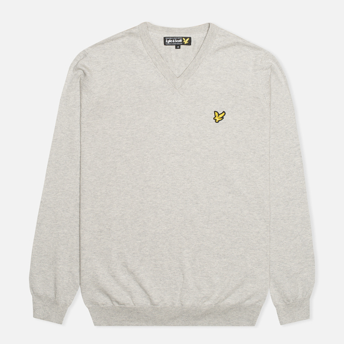Мужской свитер Lyle & Scott V Neck Knit Light Grey Marl