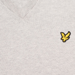 Мужской свитер Lyle & Scott V Neck Knit Light Grey Marl фото- 2