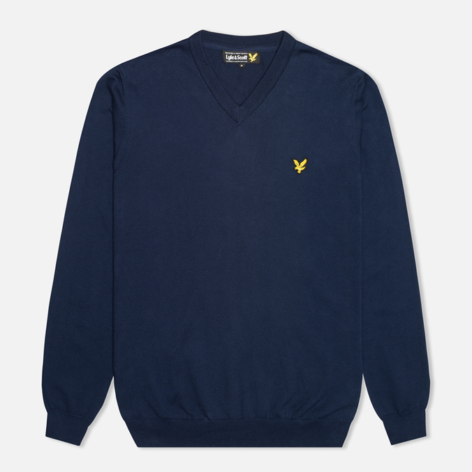 Мужской свитер Lyle & Scott V Neck Knit New Navy