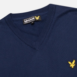 Мужской свитер Lyle & Scott V Neck Knit New Navy фото- 1