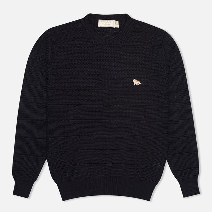 Мужской свитер Maison Kitsune Zig Zag Crew Neck Navy