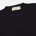 Мужской свитер Maison Kitsune Zig Zag Crew Neck Navy фото- 1