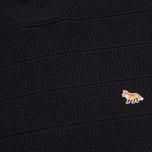 Мужской свитер Maison Kitsune Zig Zag Crew Neck Navy фото- 2