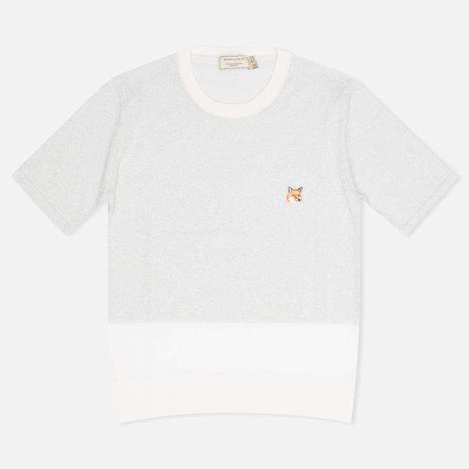 Женский свитер Maison Kitsune Shiny Ecru/Silver