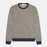 Мужской свитер YMC Crew Neck Jumper Navy/Cream фото- 0