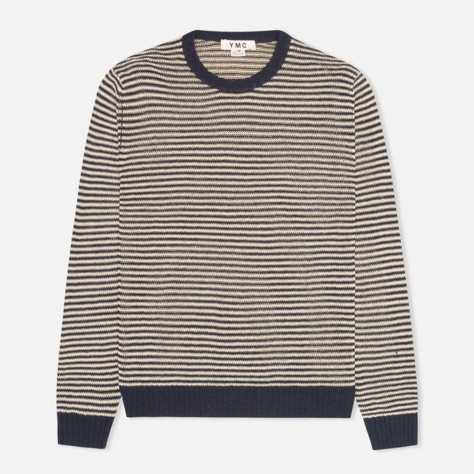 Мужской свитер YMC Crew Neck Jumper Navy/Cream