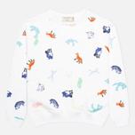Maison Kitsune Crew Neck All Over Childish Women's Sweatshirt White photo- 0