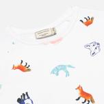 Maison Kitsune Crew Neck All Over Childish Women's Sweatshirt White photo- 1