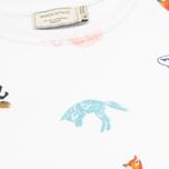 Maison Kitsune Crew Neck All Over Childish Women's Sweatshirt White photo- 2