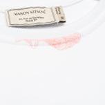 Maison Kitsune Crew Neck All Over Childish Women's Sweatshirt White photo- 3