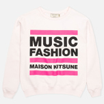 Maison Kitsune Crew Neck Print MFMK Women's Sweatshirt Light Pink photo- 0