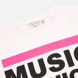 Maison Kitsune Crew Neck Print MFMK Women's Sweatshirt Light Pink photo- 1