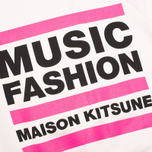 Maison Kitsune Crew Neck Print MFMK Women's Sweatshirt Light Pink photo- 3