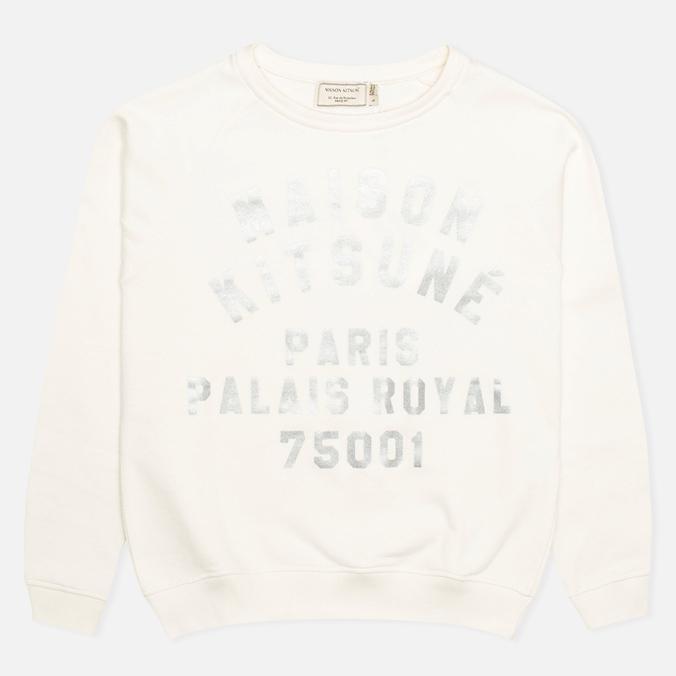 Женская толстовка Maison Kitsune Crew Neck Print Palais Royal Curve Cream