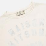Женская толстовка Maison Kitsune Crew Neck Print Palais Royal Curve Cream фото- 1