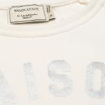Женская толстовка Maison Kitsune Crew Neck Print Palais Royal Curve Cream фото- 2