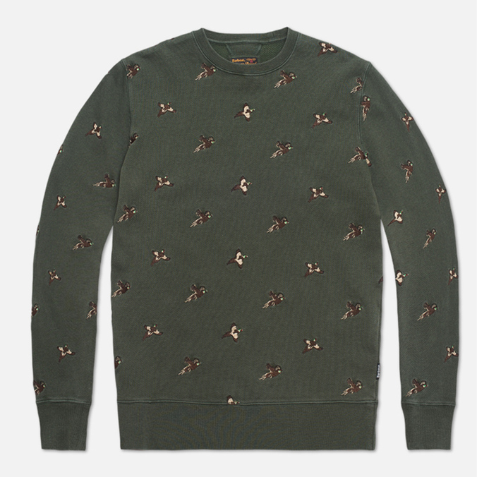 Barbour Beater Crew Forest Green