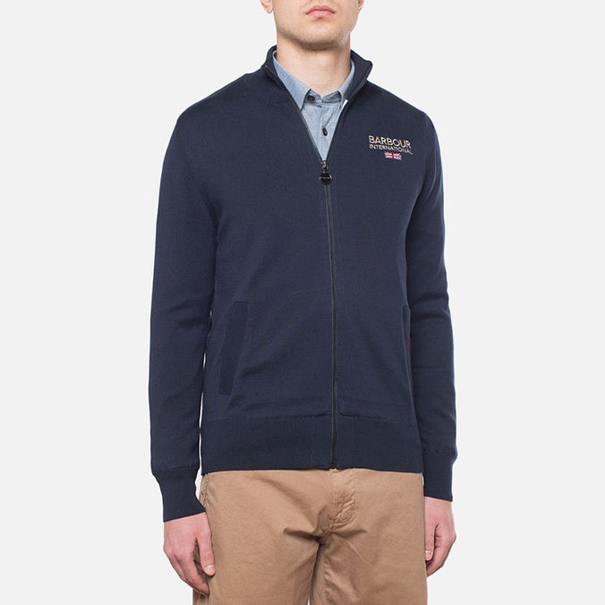 Мужская толстовка Barbour Pride Zip Thru Jumper Dark Navy