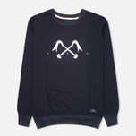 Bleu De Paname Logo #2 Jersey Men`s Sweatshirt Bleu Nuit photo- 0