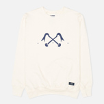 Bleu De Paname Logo #2 Jersey Men`s Sweatshirt Ecru photo- 0