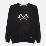 Bleu De Paname Logo #2 Jersey Men`s Sweatshirt Noir photo- 0