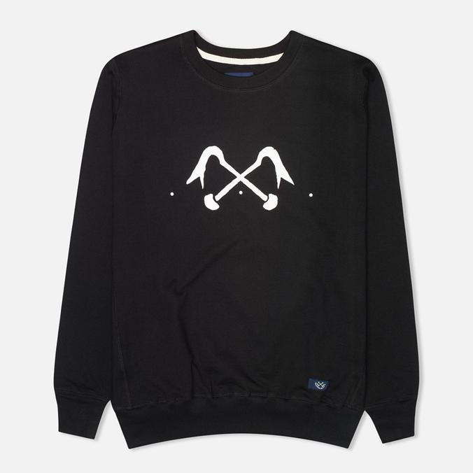 Bleu De Paname Logo #2 Jersey Men`s Sweatshirt Noir