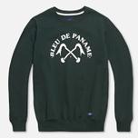 Мужская толстовка Bleu De Paname Uni Logo Vert Sapin фото- 0